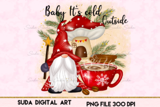 Print on Demand: Christmas Baby It's Cold Sublimation Graphic Illustrations By Suda Digital Art
