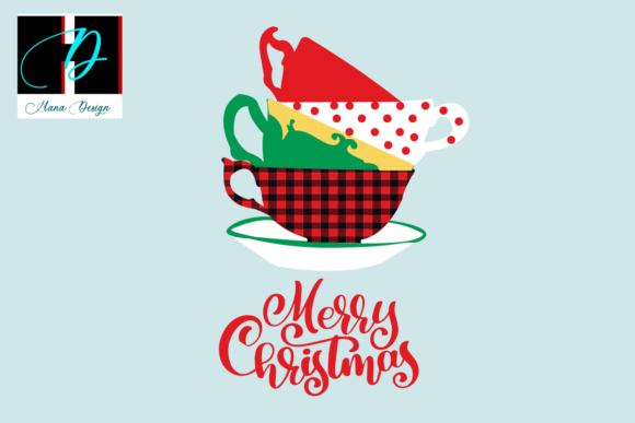 Print on Demand: Christmas Mug Vector Clipart Graphic Print Templates By Hana Design