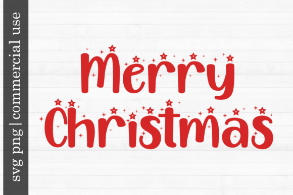 Print on Demand: Christmas Svg Merry Christmas Graphic Print Templates By inlovewithkats