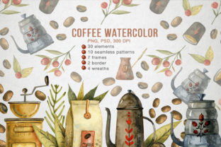 Watercolor Coffee Illustrations Graphic Illustrations By By Anna Sokol