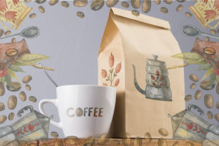 Print on Demand: Watercolor Coffee Illustrations Graphic Illustrations By By Anna Sokol 13