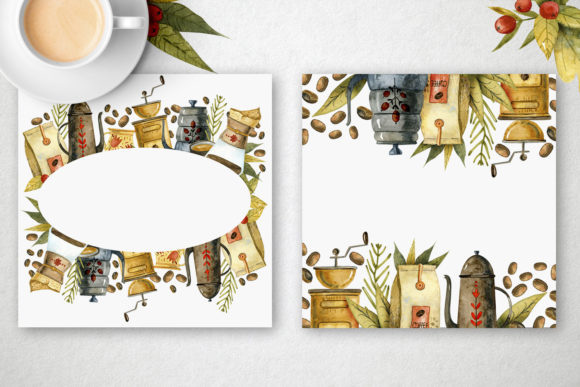 Watercolor Coffee Illustrations Graphic Item