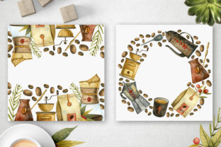 Print on Demand: Watercolor Coffee Illustrations Graphic Illustrations By By Anna Sokol 4