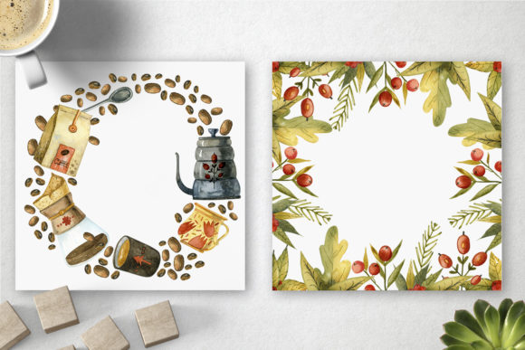Watercolor Coffee Illustrations Graphic Preview