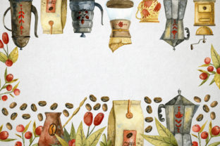 Print on Demand: Watercolor Coffee Illustrations Graphic Illustrations By By Anna Sokol 7