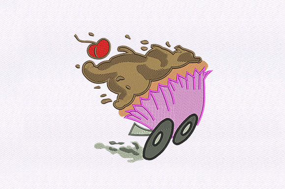 Fast Food Cupcakes Design Food & Dining Embroidery Design By DigitEMB