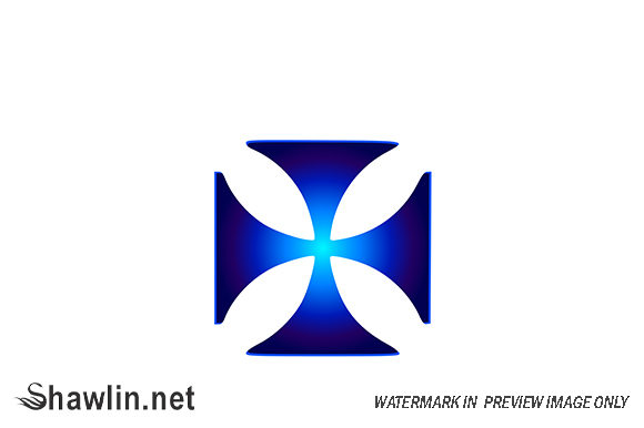 Glowing Symbol Cross Pattee Graphic Logos By shawlin