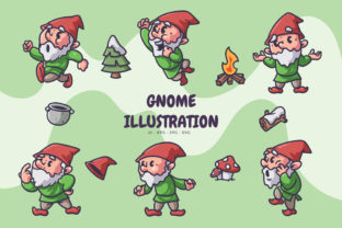 Print on Demand: Gnome in Winter Illustration Graphic Illustrations By libersla