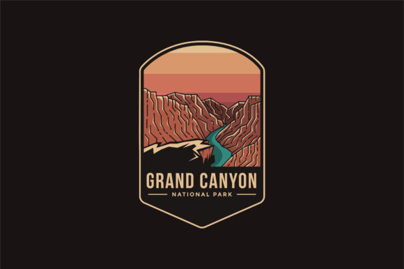 Grand Canyon National Park Logo Badge Graphic Logos By DOMSTOCK