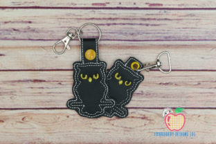 Halloween Owl in the Hoop Keyfob Halloween Embroidery Design By embroiderydesigns101