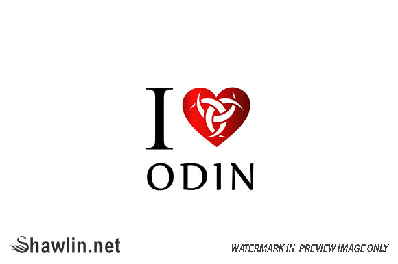 I Love Odin- Symbol of the Horns of Odin Graphic Icons By shawlin