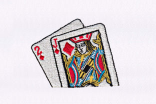 Jack of Diamonds Design Games & Leisure Embroidery Design By DigitEMB