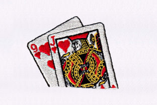 Jack of Hearts Games & Leisure Embroidery Design By DigitEMB