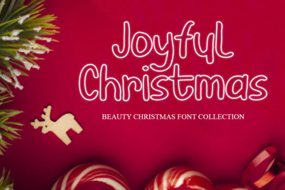 Print on Demand: Joyful Christmas Script & Handwritten Font By mizanstudio