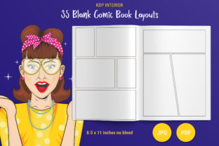 Print on Demand: KDP Blank Comic Book Page Layouts Graphic KDP Interiors By The Low Content Bookshelf