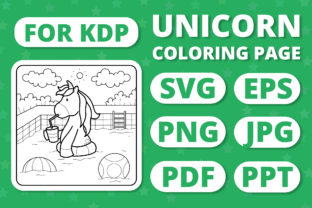 Print on Demand: KDP Unicorns & Seasons Coloring Page #14 Graphic Coloring Pages & Books Kids By RefreshUp