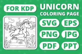 Print on Demand: KDP Unicorns & Seasons Coloring Page #16 Graphic Coloring Pages & Books Kids By RefreshUp