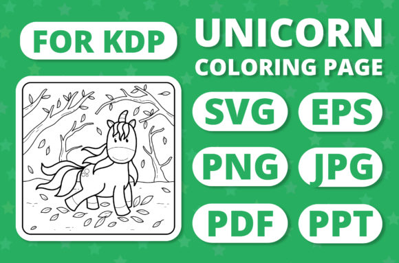 Print on Demand: KDP Unicorns & Seasons Coloring Page #18 Graphic Coloring Pages & Books Kids By RefreshUp