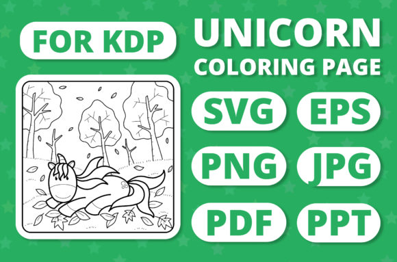 Print on Demand: KDP Unicorns & Seasons Coloring Page #20 Graphic Coloring Pages & Books Kids By RefreshUp