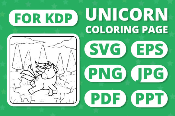 Print on Demand: KDP Unicorns & Seasons Coloring Page #4 Graphic Coloring Pages & Books Kids By RefreshUp