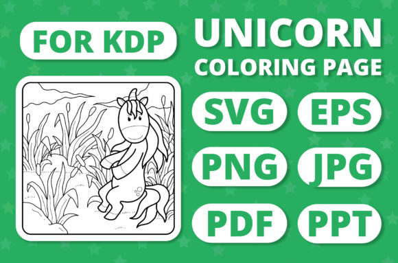 Print on Demand: KDP Unicorns & Seasons Coloring Page #6 Graphic Coloring Pages & Books Kids By RefreshUp