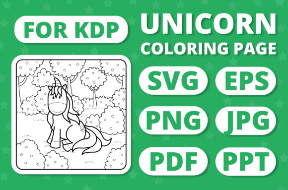 Print on Demand: KDP Unicorns & Seasons Coloring Page #8 Graphic Coloring Pages & Books Kids By RefreshUp