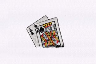 King & Ace of Spades Design Games & Leisure Embroidery Design By DigitEMB