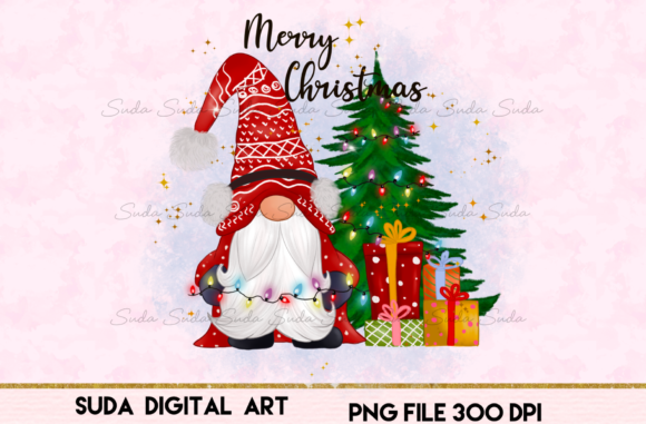 Print on Demand: Merry Christmas Cute Sublimation Graphic Illustrations By Suda Digital Art