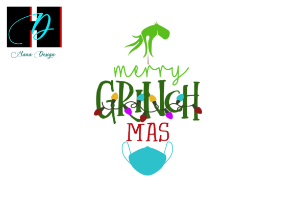 Print on Demand: Merry Grinchmas Christmas Decoration Svg Graphic Print Templates By Hana Design