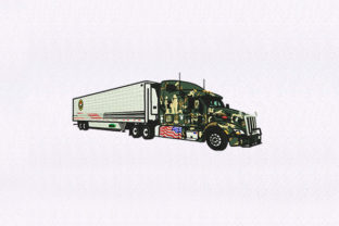 Military Truck Military Embroidery Design By DigitEMB