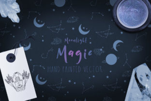 Print on Demand: Moonlight Magic Illustrations & Patterns Graphic Illustrations By paperondesign
