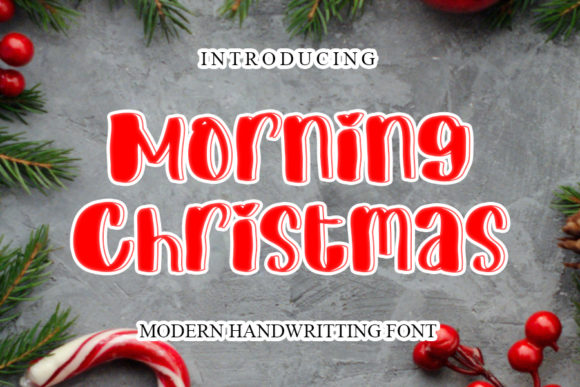 Print on Demand: Morning Christmas Script & Handwritten Font By mizanstudio
