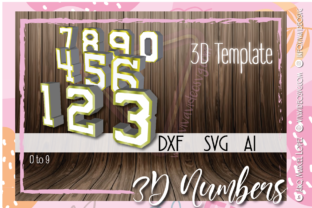 Print on Demand: New 3D Numbers 0 to 9 Graphic 3D SVG By Marcel de Cisneros