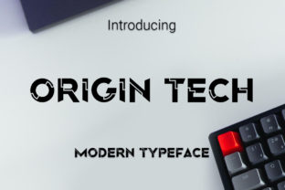 Print on Demand: Origin Tech Display Font By RoninDesign 1