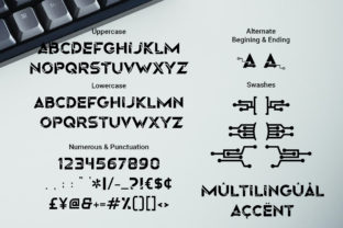 Print on Demand: Origin Tech Display Font By RoninDesign 2