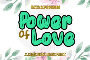 Print on Demand: Power of Love Display Font By merge354