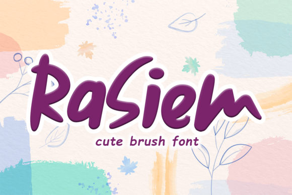 Print on Demand: Rasiem Script & Handwritten Font By Niki Studio