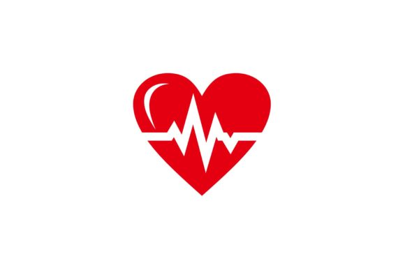 Red Heart Rate Icon - Health Monitor Graphic Icons By sore88