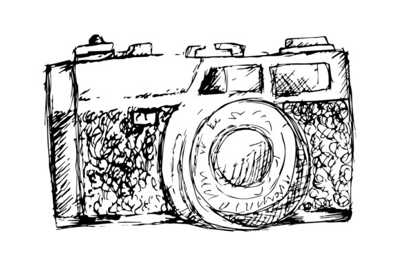 Retro Photo Camera. Graphic Illustrations By han.dhini