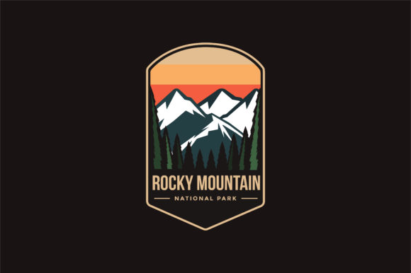 Rocky Mountain National Park Logo Badge Graphic Logos By DOMSTOCK