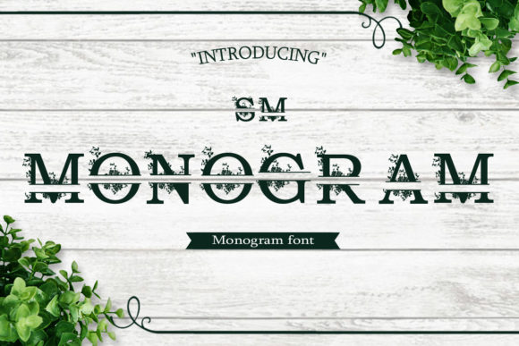 Print on Demand: SM Monogram Decorative Font By iyhulmonsta