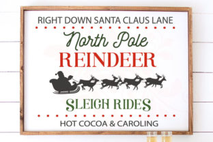 North Pole Reindeer Clip Art Print Graphic Crafts By Farmstone Studio Designs