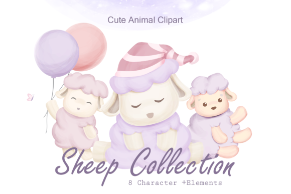 Sheep Animal Collection Graphic Illustrations By alolieli