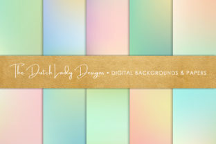 Print on Demand: Spring Pastel Gradient Backgrounds Graphic Backgrounds By daphnepopuliers