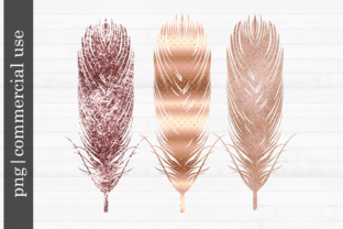 Print on Demand: Sublimation Rose Gold Feather Graphic Print Templates By inlovewithkats