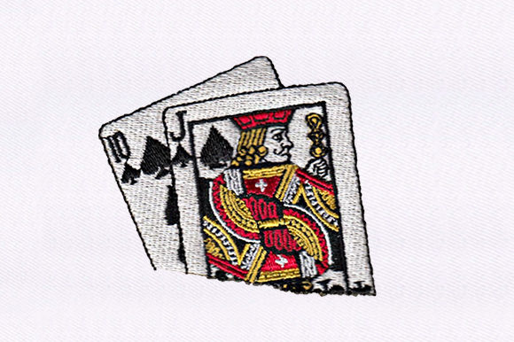 Ten & Jack of Spades Design Games & Leisure Embroidery Design By DigitEMB