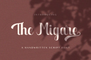 Print on Demand: The Migare Script & Handwritten Font By StringLabs