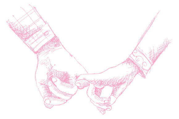 Two Persons Are Holding Hands Each Other Graphic Illustrations By han.dhini