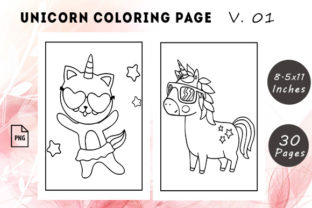 Unicorn Coloring Pages #1 Graphic KDP Interiors By KDP Successor