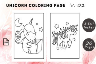 Unicorn Coloring Pages #2 Graphic KDP Interiors By KDP Successor